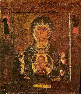 Новгородская икона Божией Матери «Знамение». XII в. Софийский собор. Великий Новгород